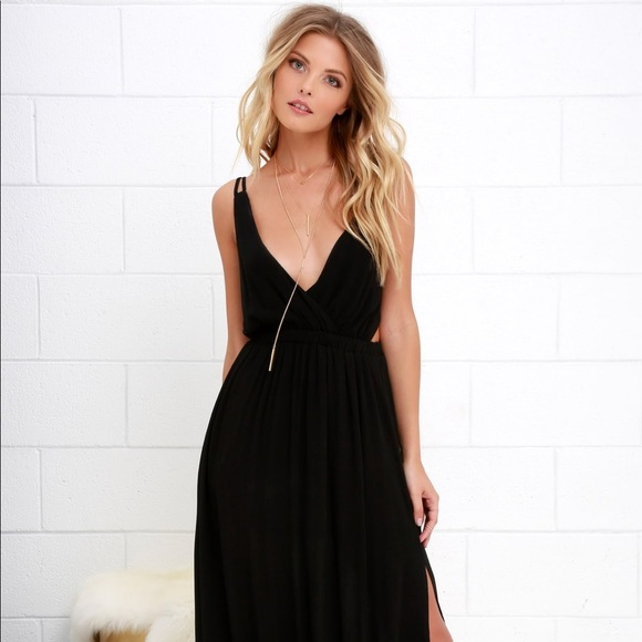 c4719057e53 Lost in Paradise Black Maxi Dress